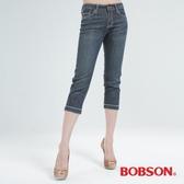 BOBSON 粉色鑽七分牛仔褲(159-53)