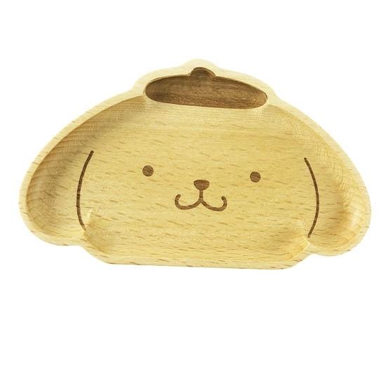 小禮堂 布丁狗 造型木質飾品盤 肥皂盤 小木盤 小物盤  (棕 大臉) 4901610-17639