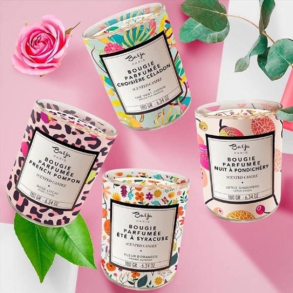 巴黎百嘉 香氛蠟燭 180g 法國專櫃 純植物大豆蠟 按摩 玫瑰 夜來香 茉莉 Baija Paris