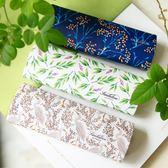 鏡盒 白綠藏藍色 白鷺植物 原創文藝清新儲物盒手工盒 聖誕禮物熱銷款