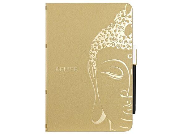 【漢博商城】Ozaki O!coat Wisdom iPad mini典藏精裝版保護套 - 佛經(黃)