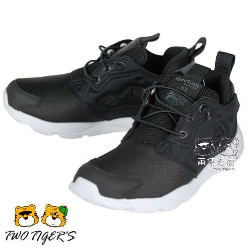 Reebok FuryLite 黑色 V68748 套入式 運動鞋 中童鞋 NO.R2691
