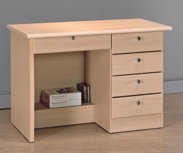 【新北大】R551-6 白橡3.5尺四抽書桌(下座) -2019購