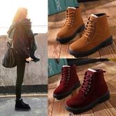 馬丁靴女英倫風短靴學生粗跟2018冬季新款韓版百搭棉鞋加絨雪地靴