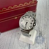BRAND楓月 Cartier 卡地亞 W69011Z4 經典 藍氣球 白盤 藍針 手錶 時計 腕錶