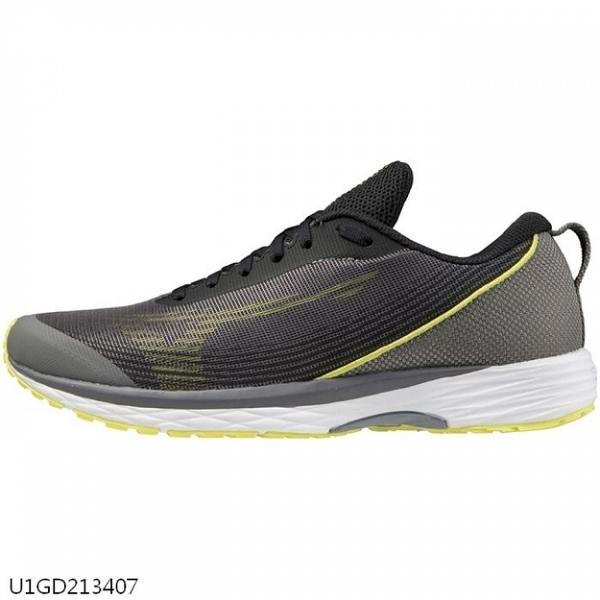 MIZUNO DUEL SONIC 男鞋 慢跑 路跑 高反發 耐磨 透氣 黑灰黃【運動世界】U1GD213407