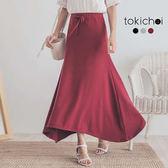 東京著衣-多色舒適優雅設計感傘擺長裙-S.M.L(180852)
