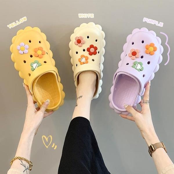 洞洞鞋女ins潮夏天時尚外穿韓版家居室內防滑居家網紅涼拖鞋女夏 蘇菲小店