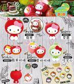 Hamee 日本正版 三麗鷗 Hello Kitty 凱蒂貓 squishy 水果系列 舒壓捏捏樂 珠鍊吊飾 (任選)
