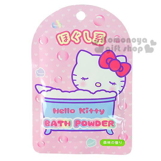 〔小禮堂〕Hello Kitty 日製入浴劑《粉.泡澡.愛心.放鬆系》森林芬多精香味 4901610-84792
