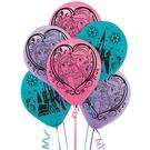 迪士尼 氣球 12吋乳膠氣球6入-冰雪奇緣