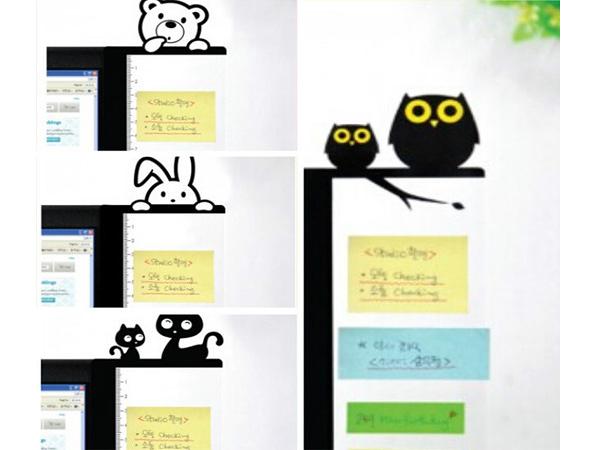 創意文具 可愛卡通電腦側邊留言板 螢幕便利貼 備忘便利貼板 【SV6138】BO雜貨