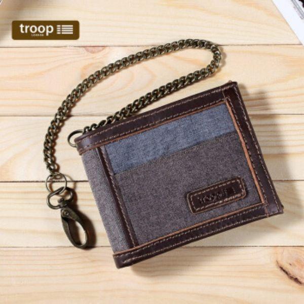 【TROOP】都會時尚URBAN錢包/TRP0401GY(灰色)