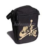 Nike 斜背包 Jordan Jumpman Classics Festival Bag 黑 金 男女款 運動休閒 【PUMP306】 9A0314-429