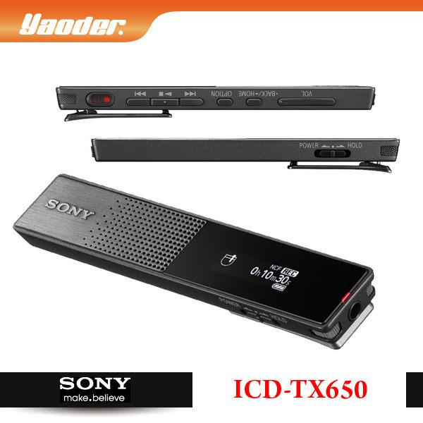 預購【曜德視聽】SONY ICD-TX650 輕薄數位錄音筆 16GB 一鍵即錄 / 免運 / 送絨布收納袋