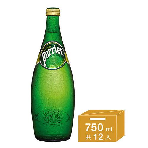 【法國Perrier】氣泡天然礦泉水(750ml)*12入/箱