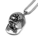《QBOX 》FASHION 飾品【CSP690】精緻個性歐美嘻哈棒球帽鑄造鈦鋼墬子項鍊/掛飾