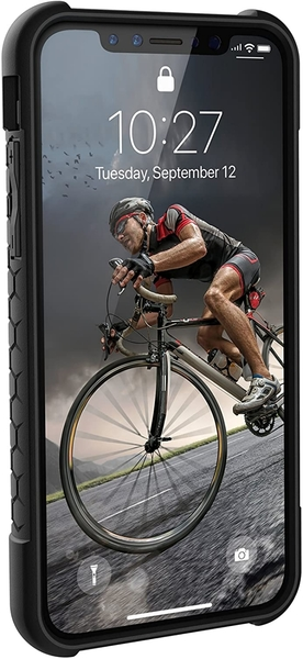 【美國代購】UAG iPhone Xs / X [5.8英寸屏幕] Monarch Feather-Light Rugged [碳纖維]軍用摔落測試iPhone手機殼
