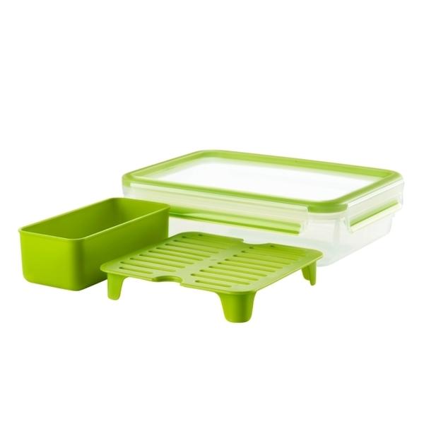 法國特福Tefal MasterSeal 樂活系列無縫膠圈PP密封保鮮早午餐盒1.2L