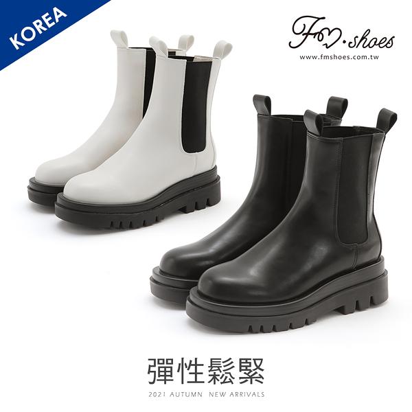 靴.厚底鋸齒切爾西靴FM時尚美鞋-韓國精選.In good shape