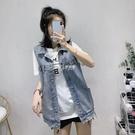 牛仔馬甲女春夏新款學生韓版寬鬆無袖背心馬甲外套bf潮流