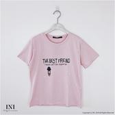 【INI】週慶限定、可愛穿搭印花舒適上衣.粉色