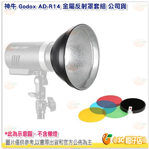 神牛 Godox AD-R14 金屬反射罩套組 公司貨 色片 柔光片 反射罩 AD300Pro AD400Pro 適用