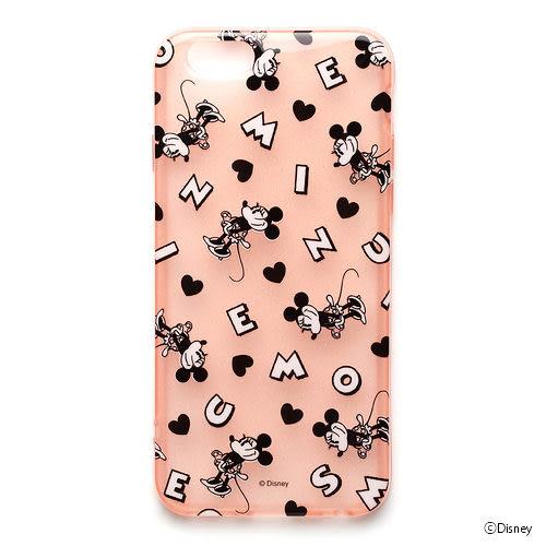 【漢博商城】iJacket 迪士尼 iPhone 6 Plus 半透明軟式保護殼 - 米妮