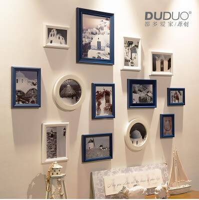 原創歐式 實木照片牆 相片相框牆組合13框臥室客廳