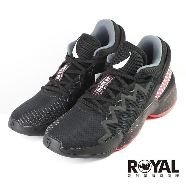 Adidas D.O.N. ISSUE 2 X VENOM 紅黑 運動 限量籃球鞋 男款 NO.B2109【新竹皇家 FW9038】