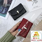 短夾長夾歐美禮盒精致高檔卡包女復古小巧多卡位風琴一體純色大容量零錢包【樂淘淘】