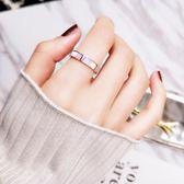 鋼戒 天然粉色貝殼精美戒指鍍18K玫瑰金鈦鋼食指環戒子首飾品 巴黎春天