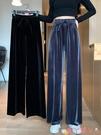 寬管褲黑色褲子女夏季薄款2021年新款闊腿褲外穿高腰百搭直筒休閒褲長褲 愛丫 新品