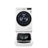 LG樂金滾筒洗脫烘-9KG+下層2KG洗衣機WD-S90VDW+WT-D200HW