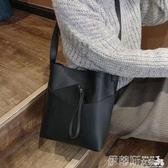 水桶包包包女新款春季斜背包大學生上課百搭大容量水桶側背包潮 春季特賣