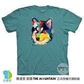 摩達客-現貨-美國進口The Mountain 多彩哈士奇 純棉環保藝術中性短袖T恤