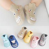 新款春秋卡通嬰兒鞋襪防滑皮底兒童地板襪毛圈保暖寶寶襪子0-3【onecity】