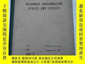 二手書博民逛書店microwave罕見semiconductor devices