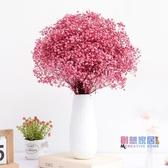 干花 滿天星干花束家居客廳擺設天然小清新帶花瓶真花裝飾花束擺件干花【快速出貨】