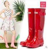 水靴高筒防水膠鞋女雨靴防滑雨鞋女