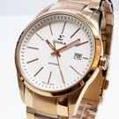 【萬年鐘錶】SIGMA 日系 簡單 男錶  女錶  白錶面 玫瑰金殼  玫瑰金錶帶 藍寶石水晶鏡面 9814M-RG