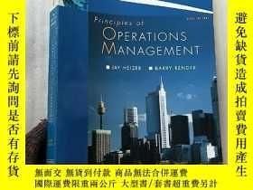 二手書博民逛書店Principles罕見of OPERATIONS MANAGE