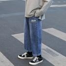 牛仔褲 褲子新品男士牛仔褲寬鬆直筒韓版潮流休閒九分褲潮牌長褲子男 果果生活館