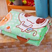 柔軟雙層加厚雪貂絨童毯(100x135cm) 淘氣家族-粉綠