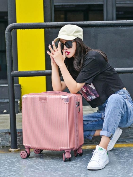 網紅迷你行李箱ins輕便小型拉桿密碼旅行箱子女小號20男18寸韓版 NMS喵小姐