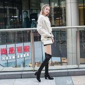 新款中跟靴子騎士靴高筒馬靴長筒靴皮靴長靴過膝靴 QQ10846『bad boy時尚』