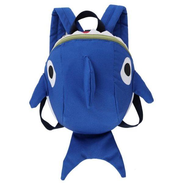 防走失小背包1-3歲2男寶寶嬰幼兒書包正韓迷你小鯊魚雙肩兒童包女 童趣潮品