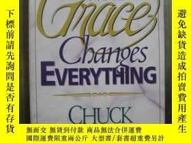 二手書博民逛書店WHY罕見GRACE CHANGES EVERYTHING 作者簽名Y10980 CHUCK SMITH HA