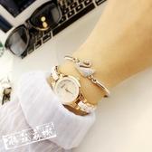 手錶女 手錶女正韓簡約休閒大氣時尚復古手鏈表女士防水石英女表 限時8折