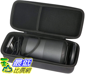 [9美國直購] khanka Case Travel Bag for Bose SoundLink Revolve Bluetooth Speaker (Fits Charging Cradle, AC Adaptor